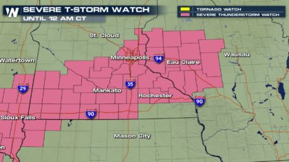 Severe Thunderstorm Watches Issued Thursday