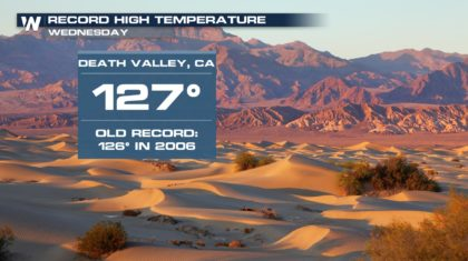 Record Temperatures for Southwest on Wednesday