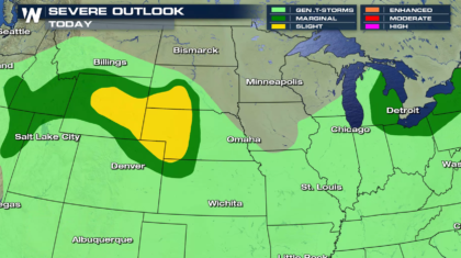 High Plains Severe Weather Risk to Start The Week