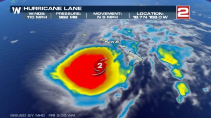 Powerful Hurricane Lane Moves Toward Hawaiian Islands