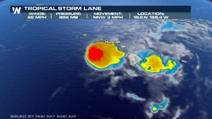 Tropical Storm Lane Still Brings Heavy Rain Threat