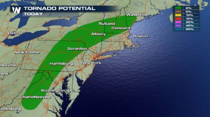 Severe Storms for Northeast and Midwest Friday