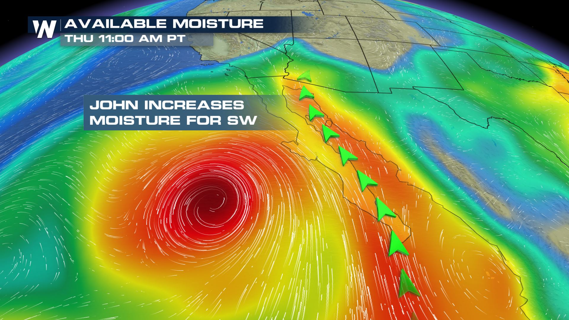 Tropical Storm John Fuels Storms in Four Corners