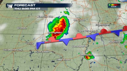 Severe Storms Possible From Minnesota to Arkansas