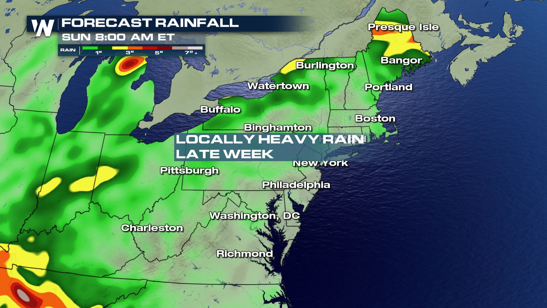 Break From Heavy Rain in Northeast, More Late Week