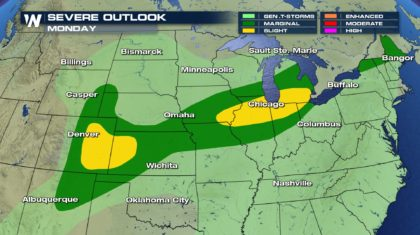 Monday's Severe Weather Forecast