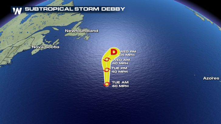 Subtropical Storm Debby Forms!