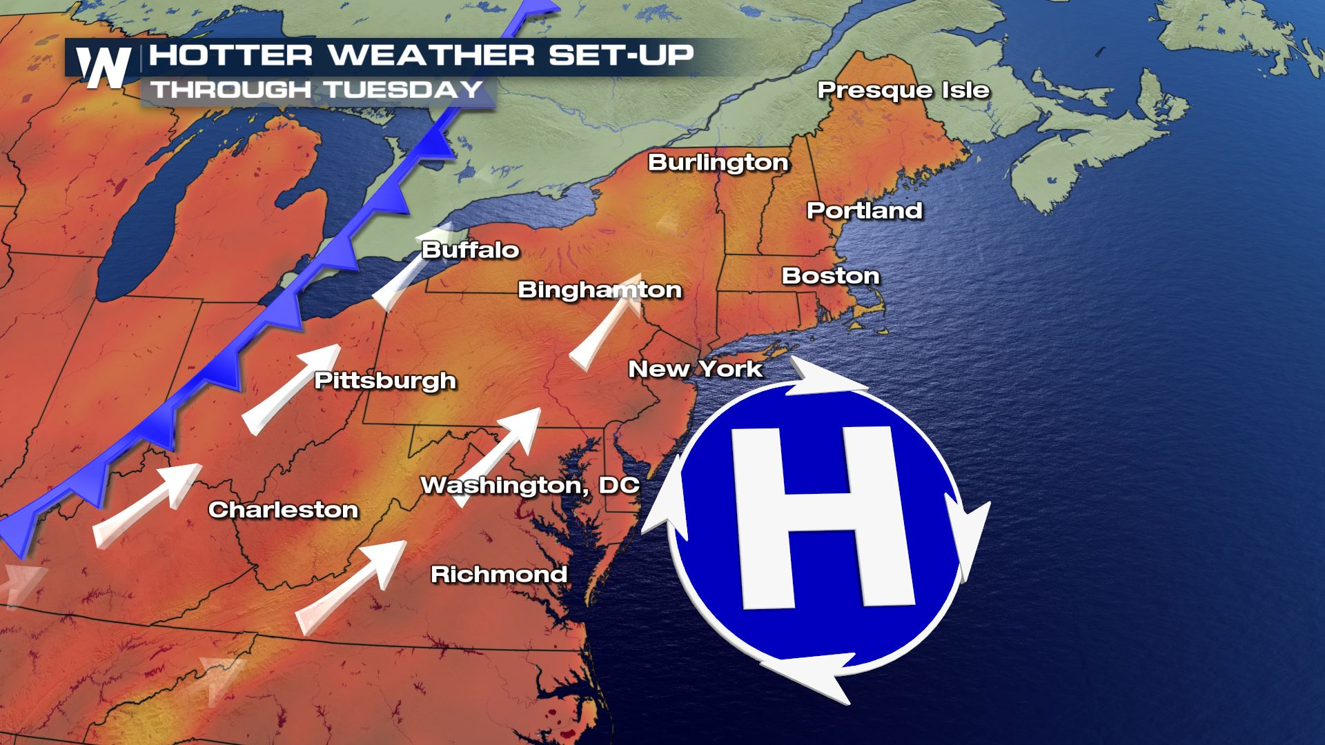 From Soggy to Scorcher Across the Northeast