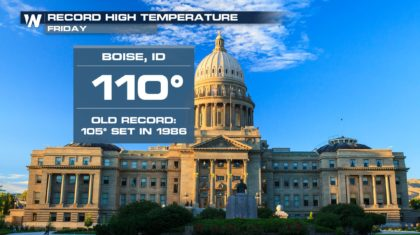 Call it a Record! The West was Sizzling Friday