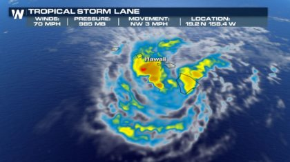 Lane Weakens to a Tropical Storm