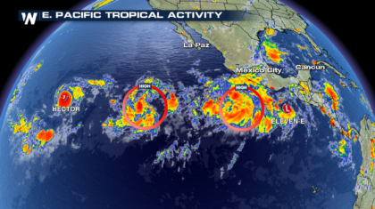 Tropical Depression 11-E Forms in Active E. Pacific