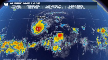 Hurricane Lane: Rare Forecast of Hurricane Landfall for Hawaii