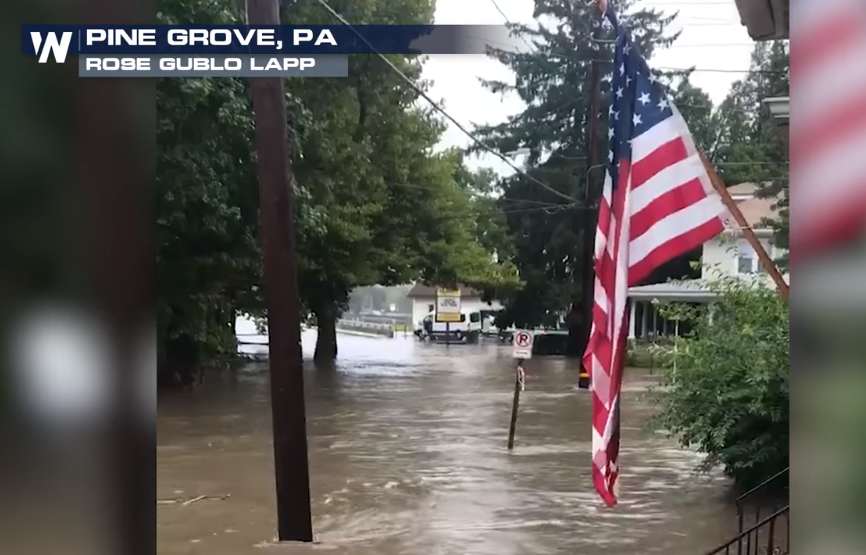 Heavy Rain Producing Flooding in the Northeast