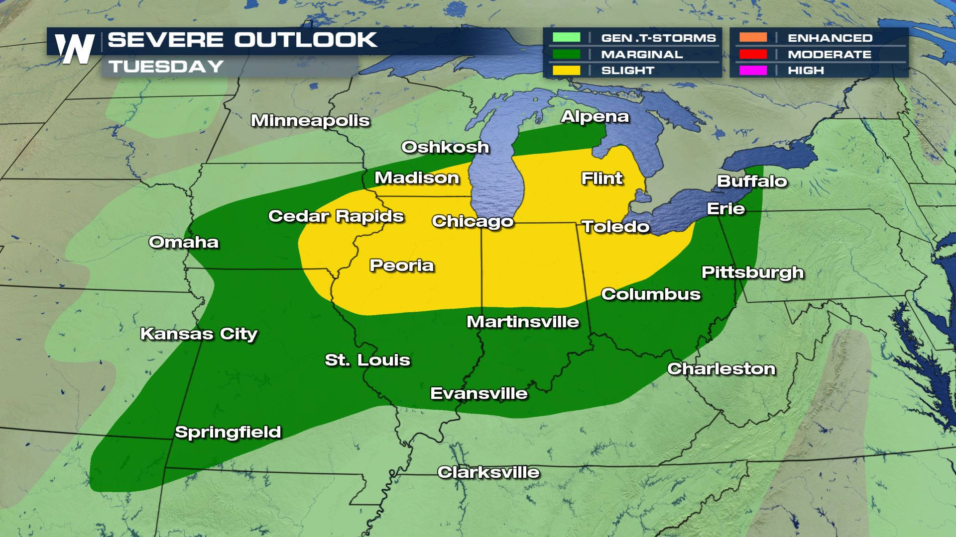 Severe Storms Likely for the Mississippi and Ohio Valleys