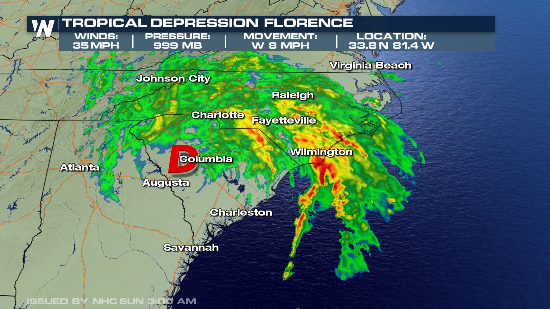 Florence is Now a Tropical Depression - WeatherNation