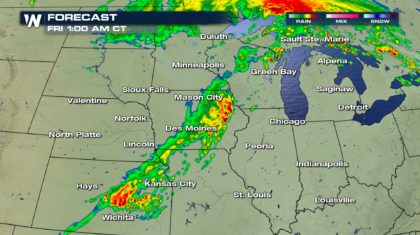 Strong Storms Overnight Move Into Northeast Friday