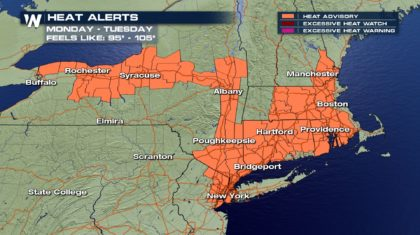 Heat & Humidity Hang on in the Northeast