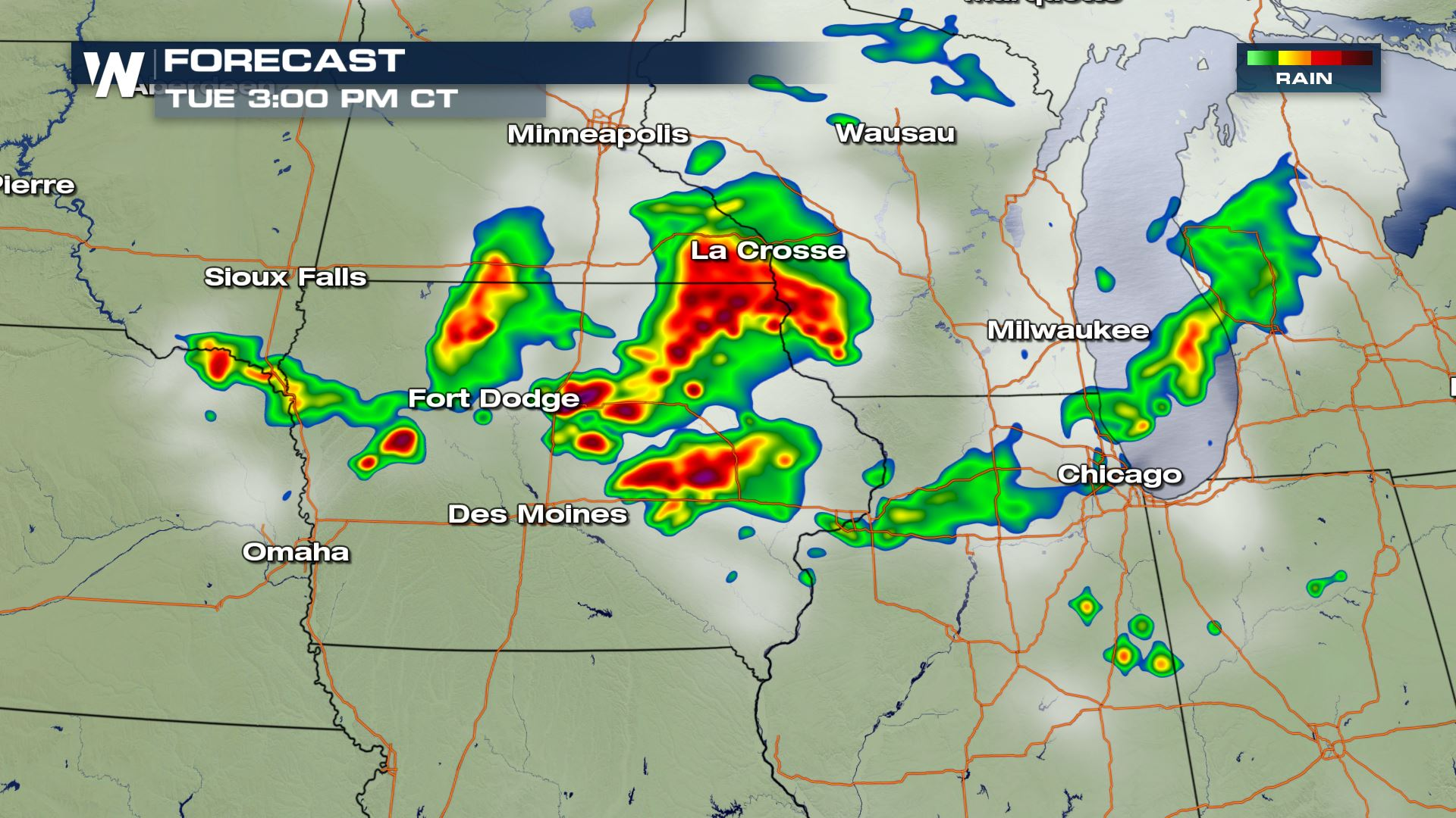Tuesday S Severe Weather Forecast Weathernation