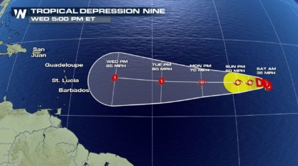 Atlantic Adds Yet Another Tropical Depression
