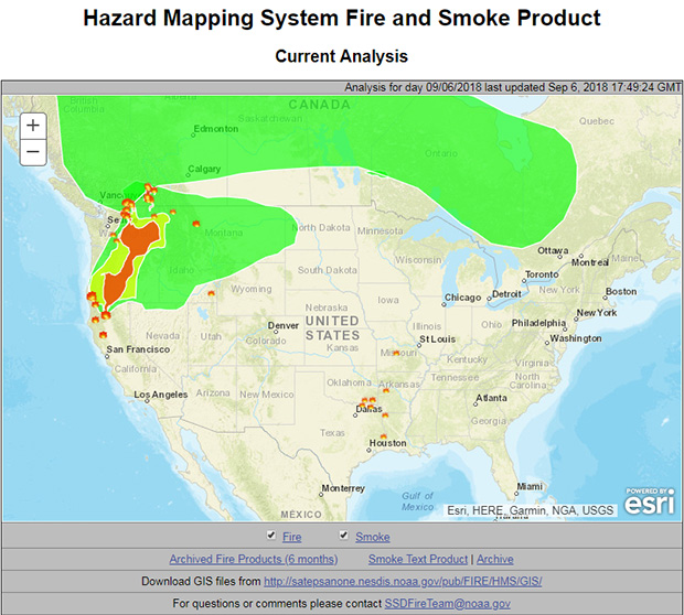 Improving wildfire smoke and air quality forecasts weathernation the hazard mapping system fire and smoke product is an operational product that provides smoke forecasts the firex team is working to provide information freerunsca Gallery