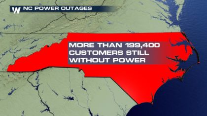 Close to 200,000 Customers Still Without Power in North Carolina