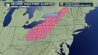 Severe Thunderstorm Watch Issued in the Northeast