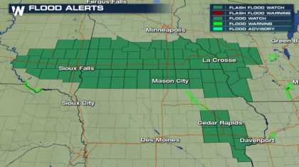 Flash Flood Watches for the Upper Midwest into Thursday