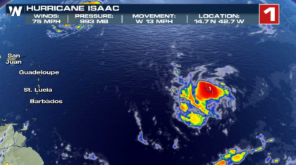 Isaac Now a Hurricane; May Impact Lesser Antilles Later This Week