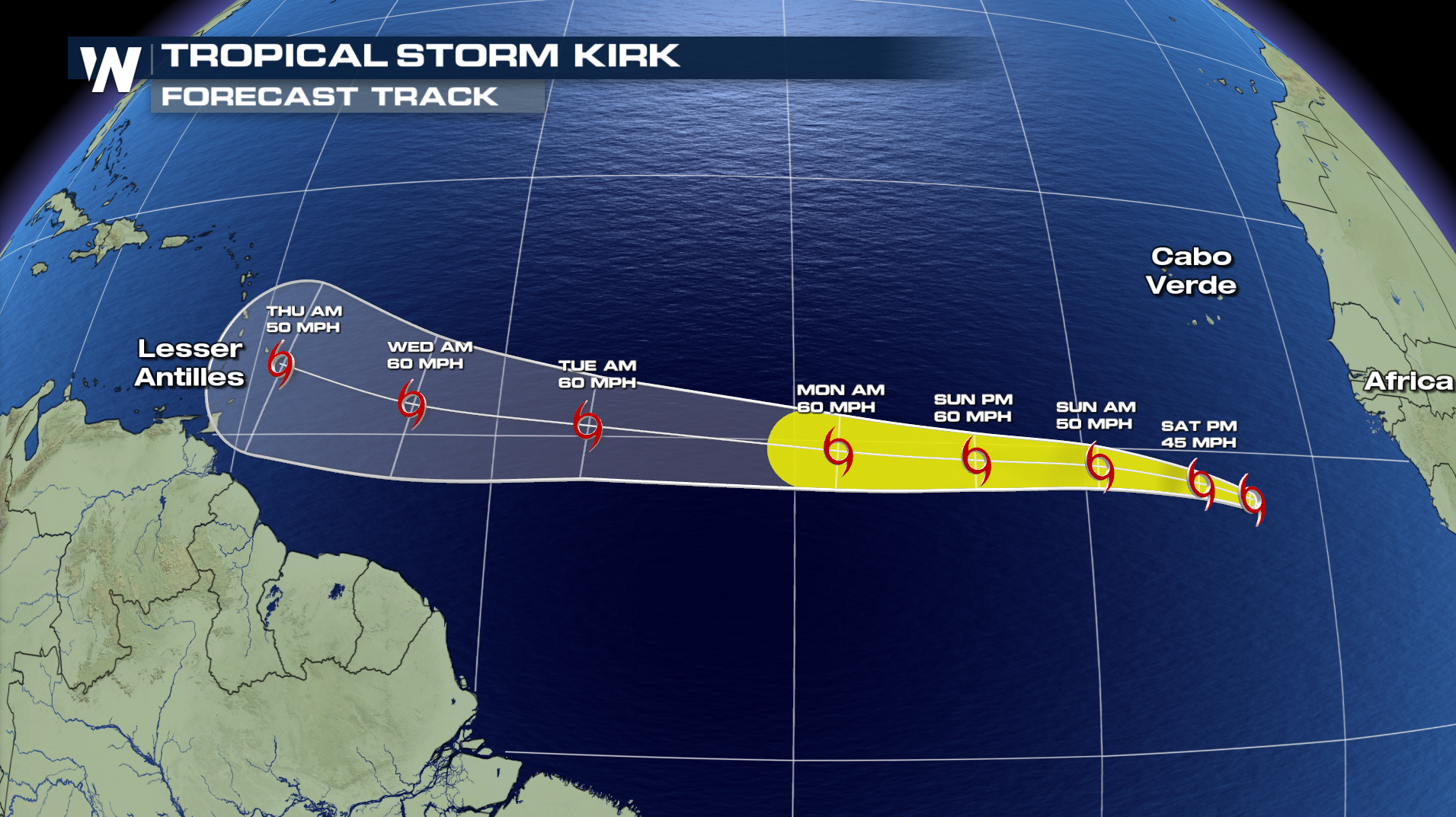 Tropical Storm Kirk Forms in the Atlantic