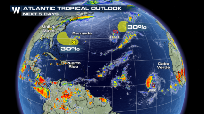 Tropics Heating Up With Tropical Storms Kirk, Leslie