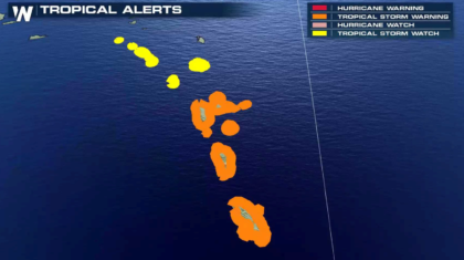 Tropical Storm Alerts in the Lesser Antilles as Isaac Approaches