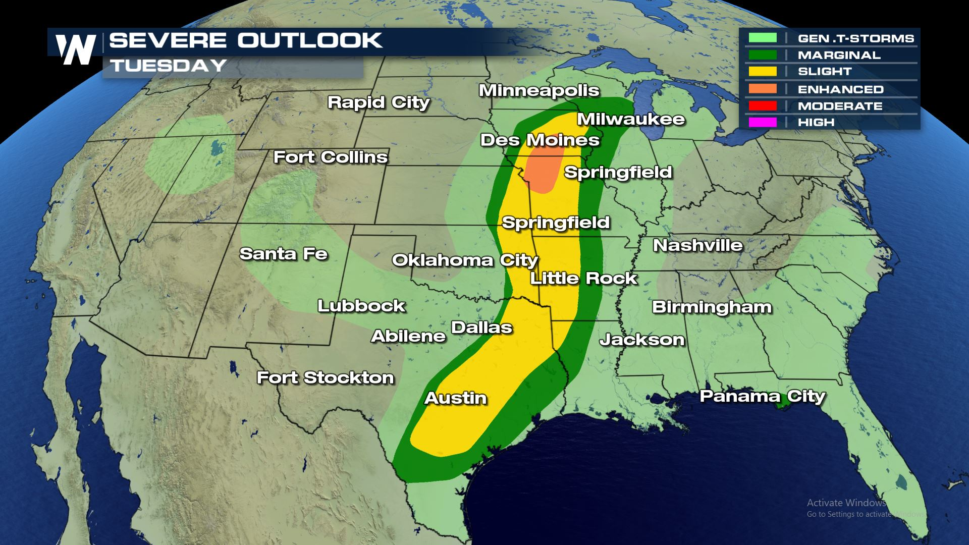 Tuesday Severe Weather Update - WeatherNation