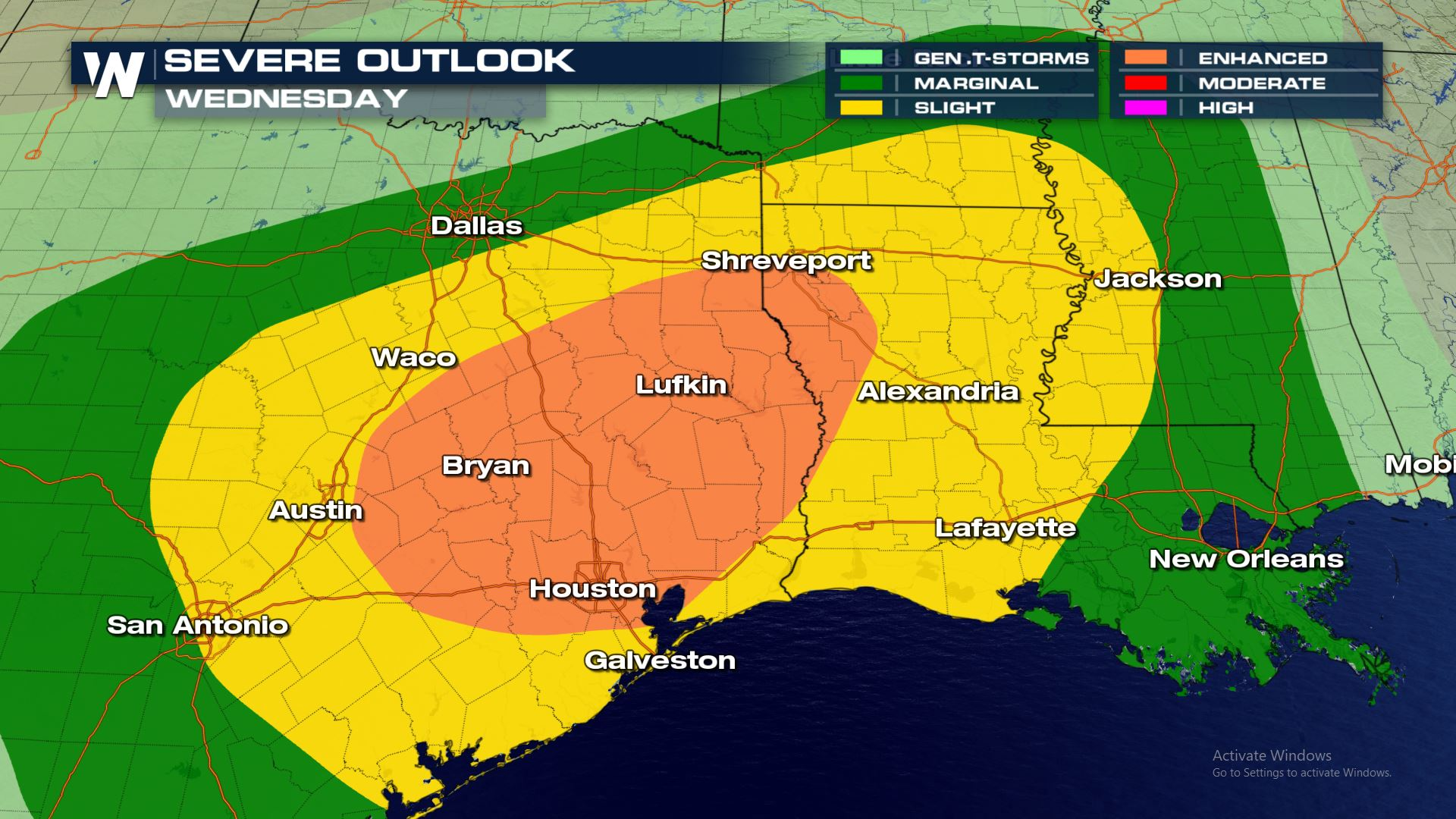 Severe Storms in the Forecast for East Texas on Halloween