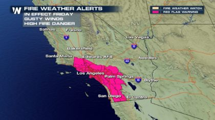 Fire Weather Warnings Issued For California Again