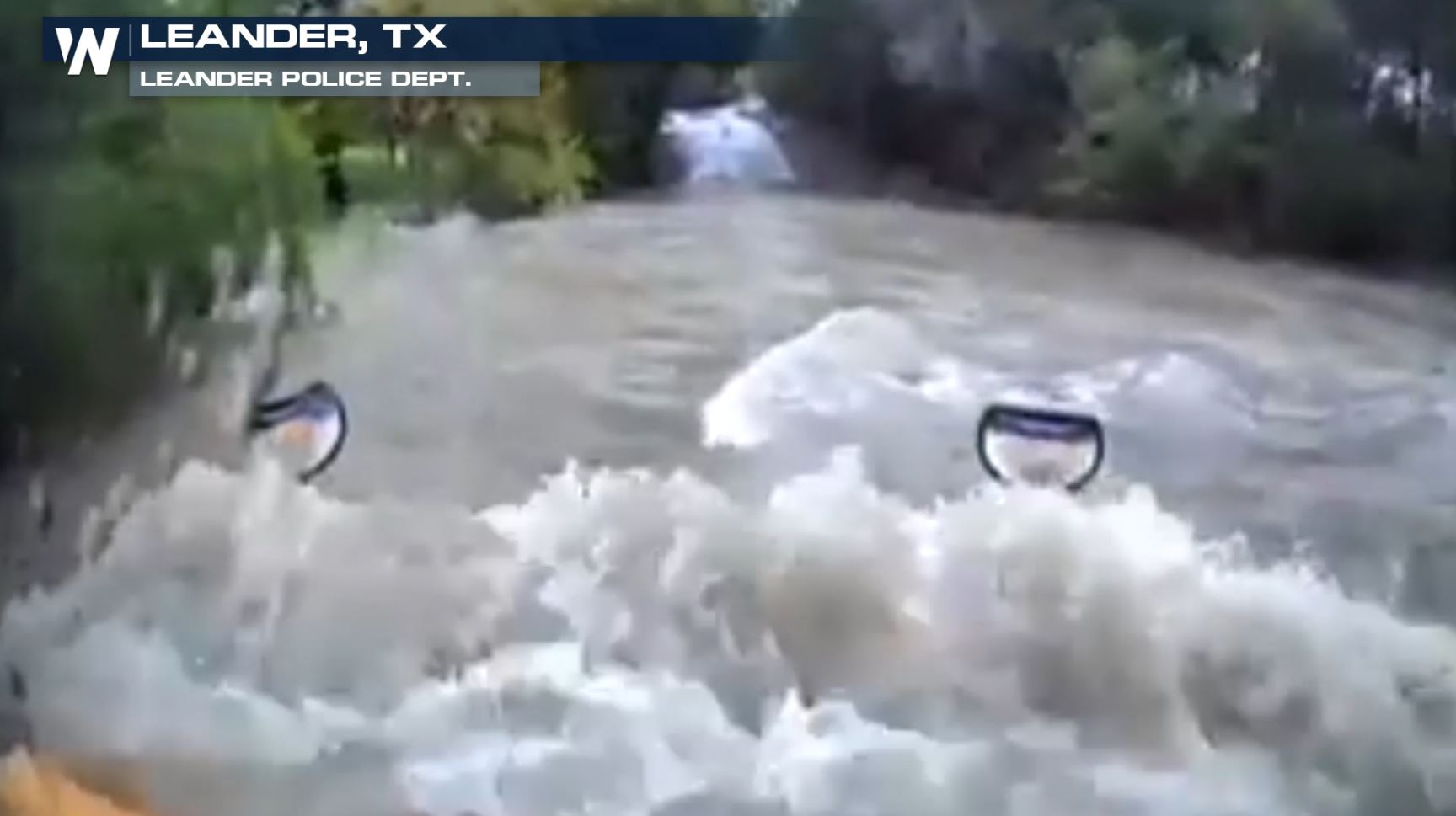 School Bus Driver Drives Through Raging Floodwaters, Swept Away