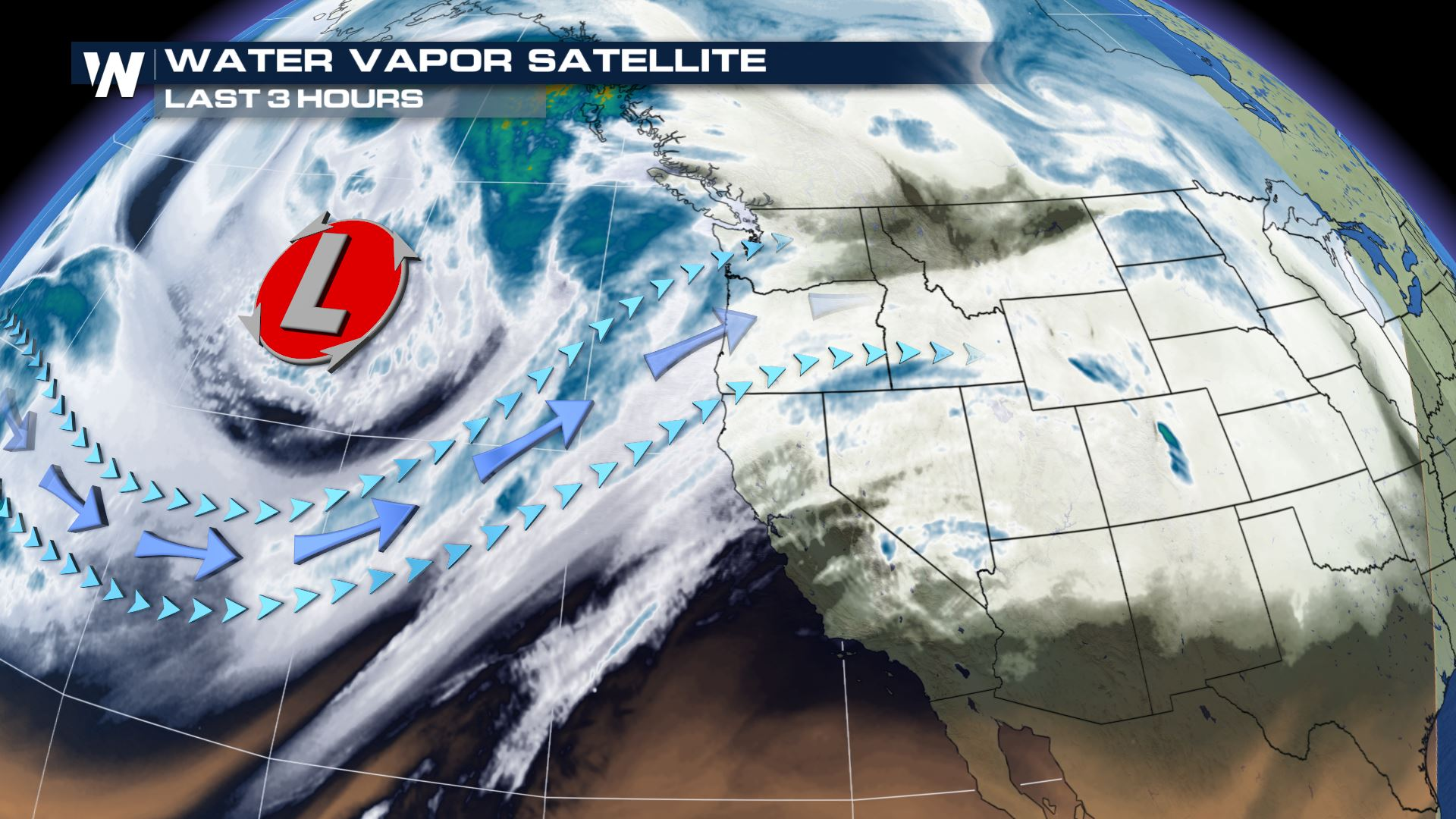 Heavy Rain Showers Move Into The Pacific Northwest