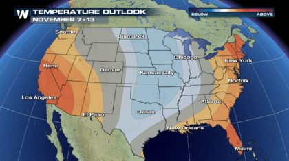 November to Start Cool for Many in the Central U.S.