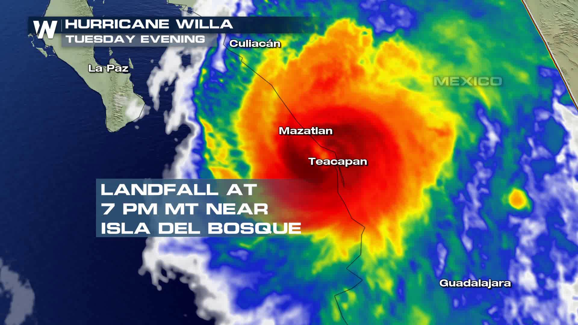 Hurricane Willa Makes Landfall in Western Mexico