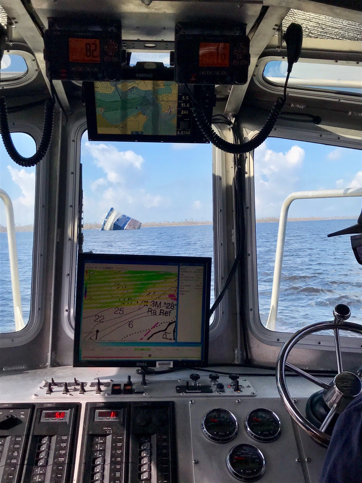 Surveying Shipping Hazards After Hurricane Michael