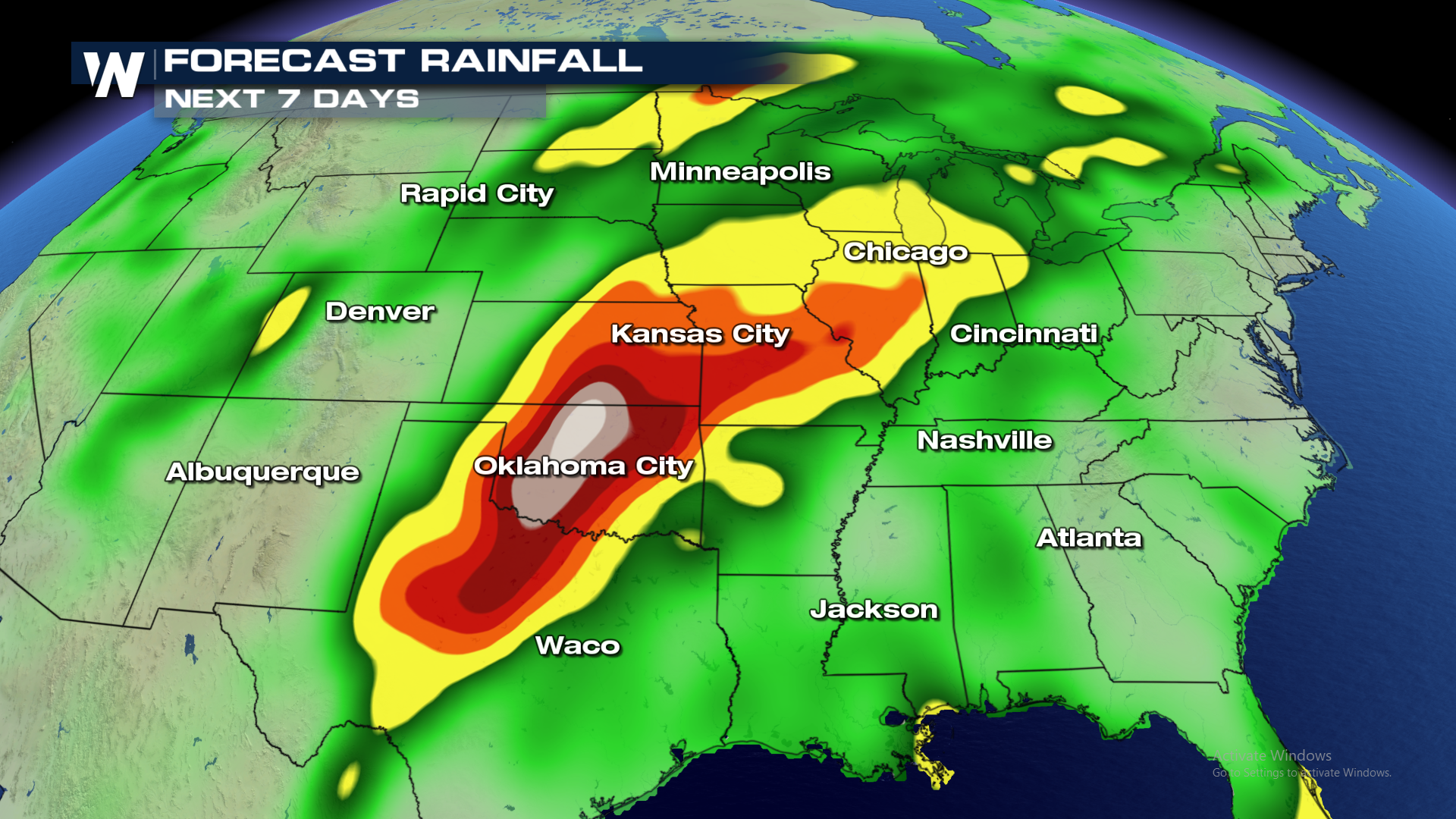 over next 7 days heavy rain likely for central united states