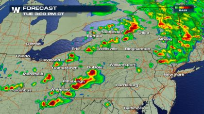 Severe Storm Chances for the Northeast Tuesday