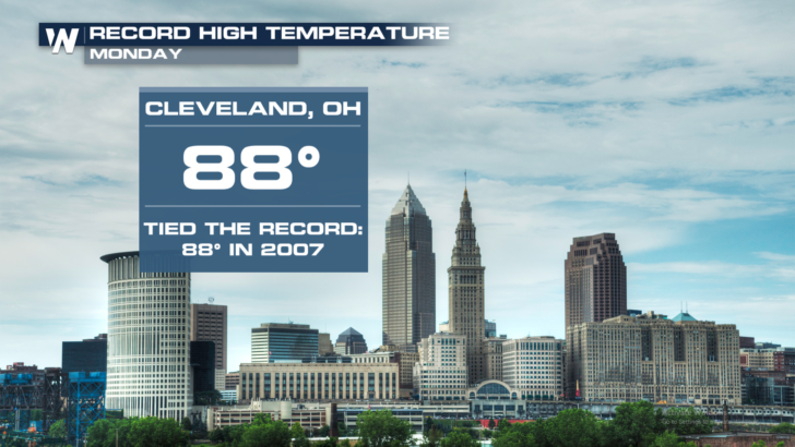 Record Highs Set in Ohio, Pennsylvania On Monday