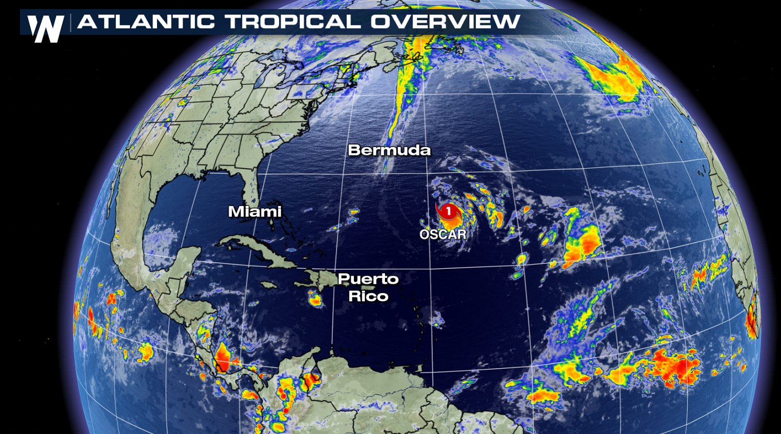 Oscar Continues to Strengthen in the Atlantic, but No Threat to Land