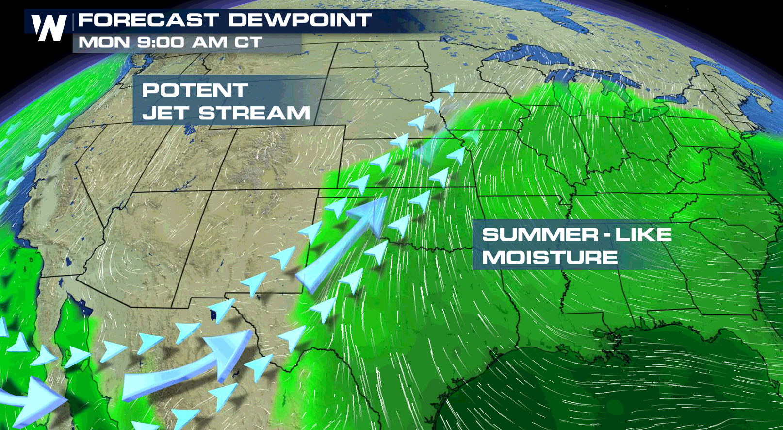 Flood Potential from the Upper Midwest to the Southern Plains
