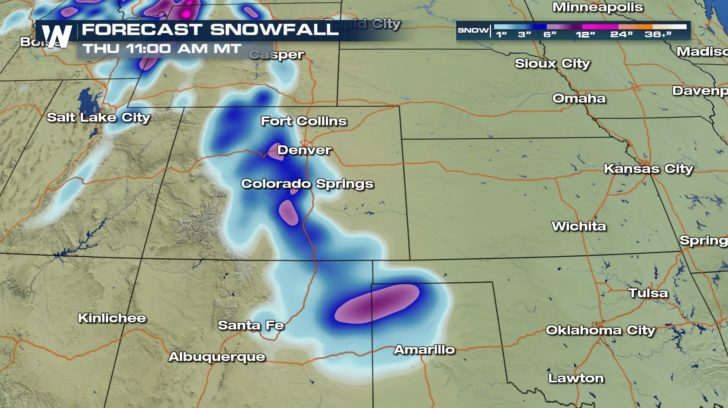 Snow for the Southwest!