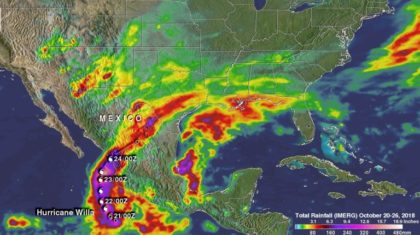 A Look at the Excessive Rainfall from Hurricane Willa in Mexico and Texas