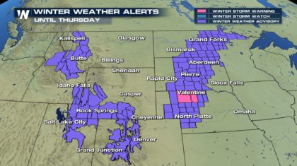 Winter Weather Continues Out West