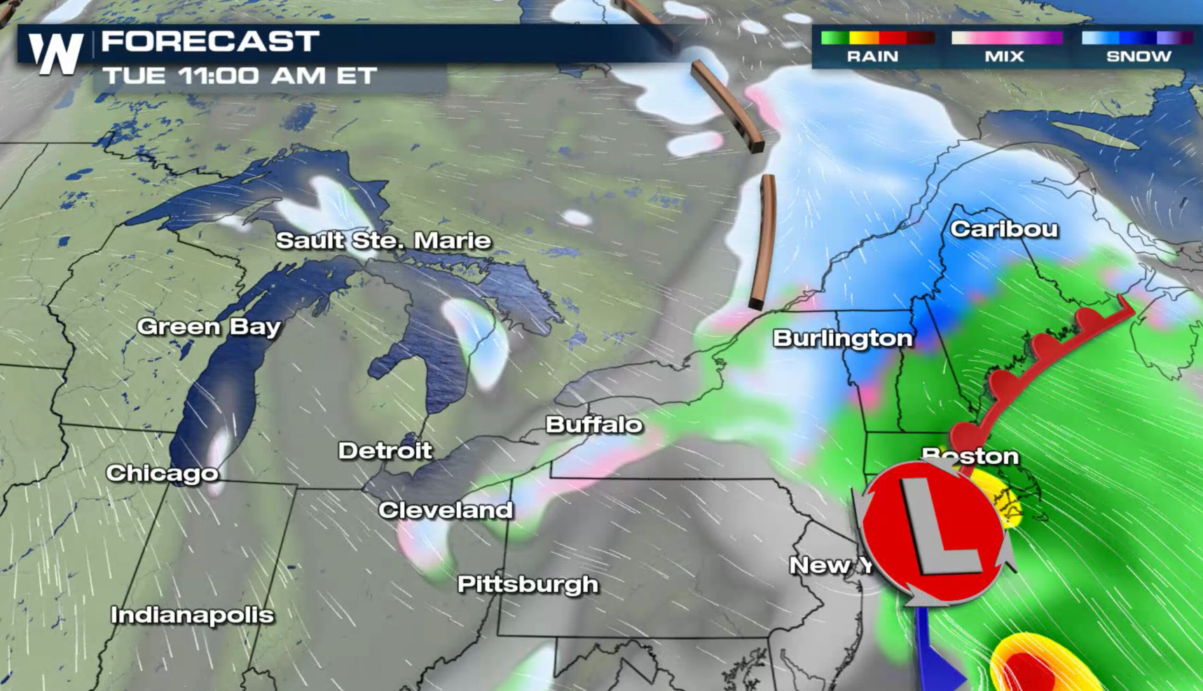 Heavy Snow Continues in Portions of the Northeast