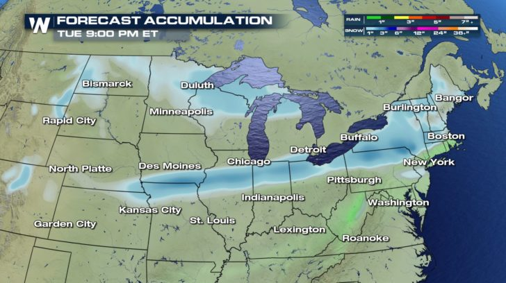 Clipper System Brings More Snow To Northeast U.S.