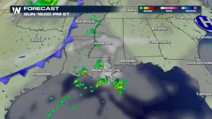 Isolated Storms Sunday for the Gulf Coast